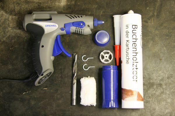 Geruchstarnung Buchenholzteer für die Hosentasche - Material und Werkzeug